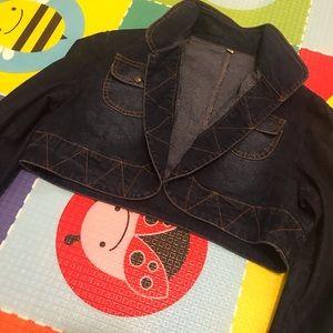 Jackets & Blazers - Cropped Denim Jacket